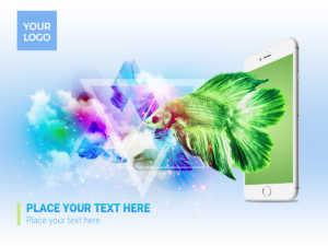 Phone & Fish – Artwork – Social Media Design – PSD Template