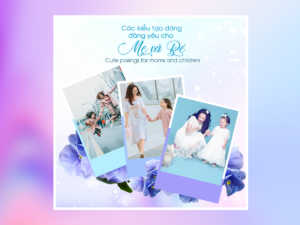 Mom & Kid Pose – Social Media Templates
