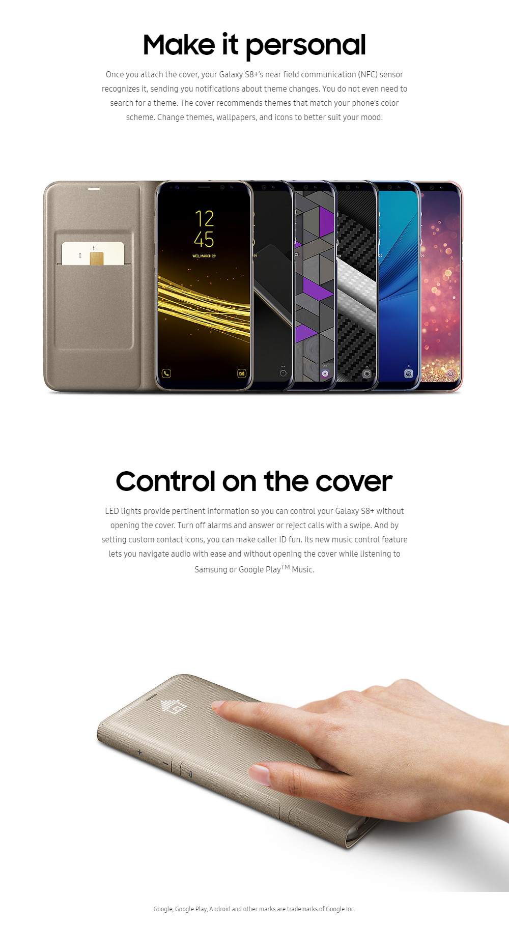 Samsung S8 Plus LED View Cover (Gold)