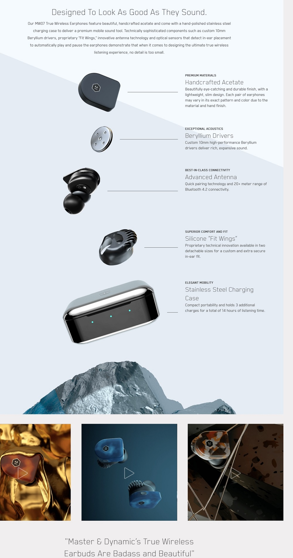 Master & Dynamic MW07 True Wireless Earphones (Cherry Blossom)