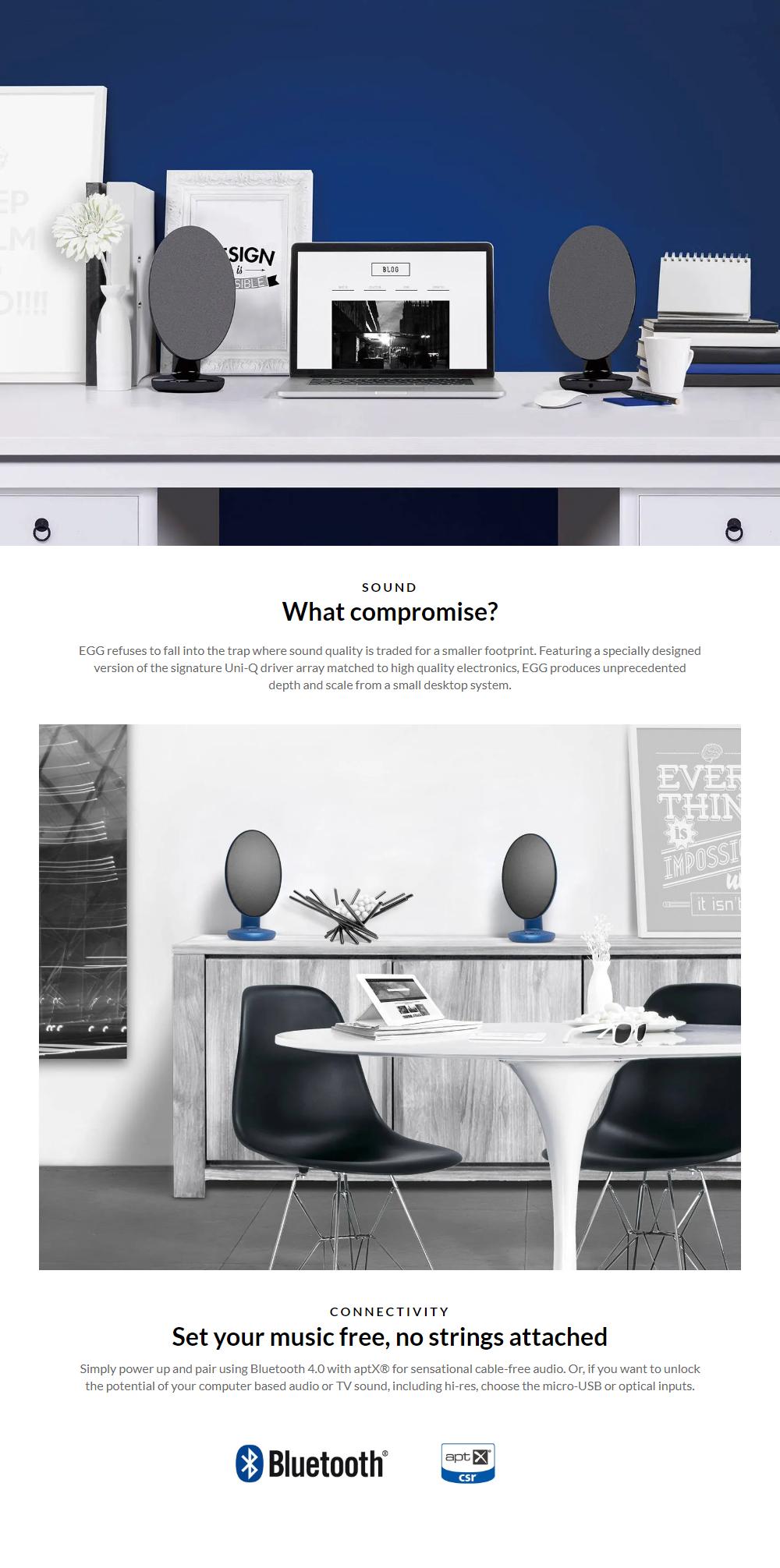 KEF Egg Wireless Speaker EU (Blue)