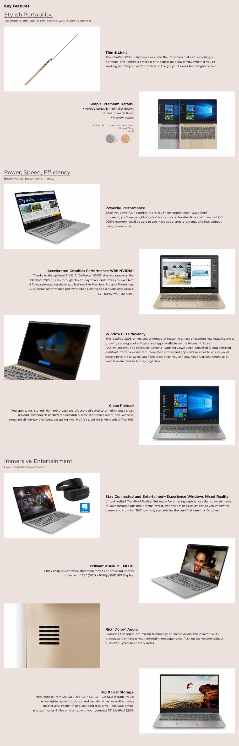 Lenovo IdeaPad 320S [Intel i5, 8GB RAM, 1TB HDD, MX130 2GB] (Mineral Grey)