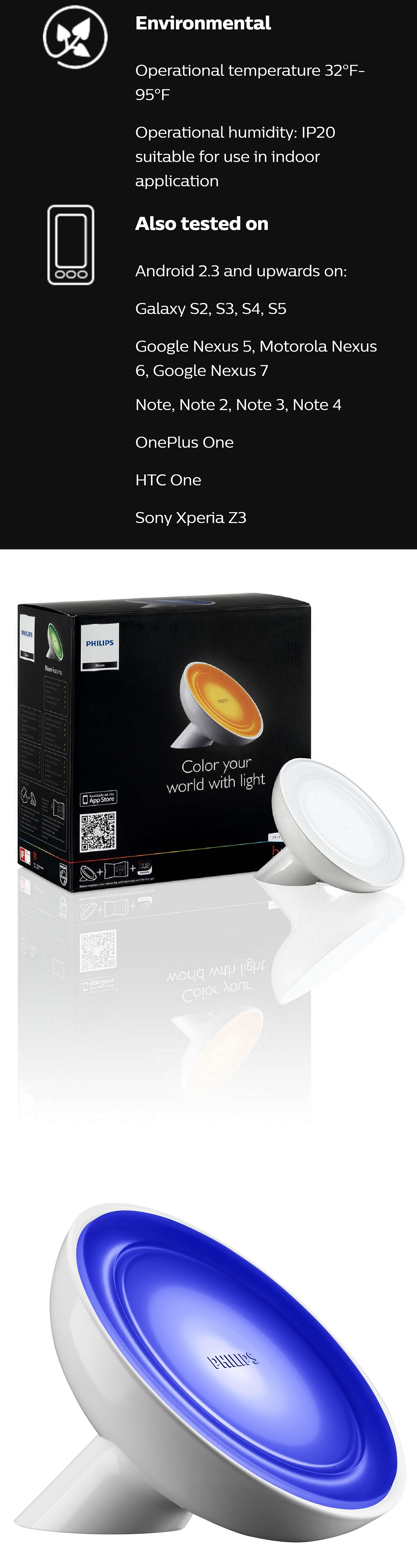Accessories led gps light bulbs philips hue bloom for Philips hue friends