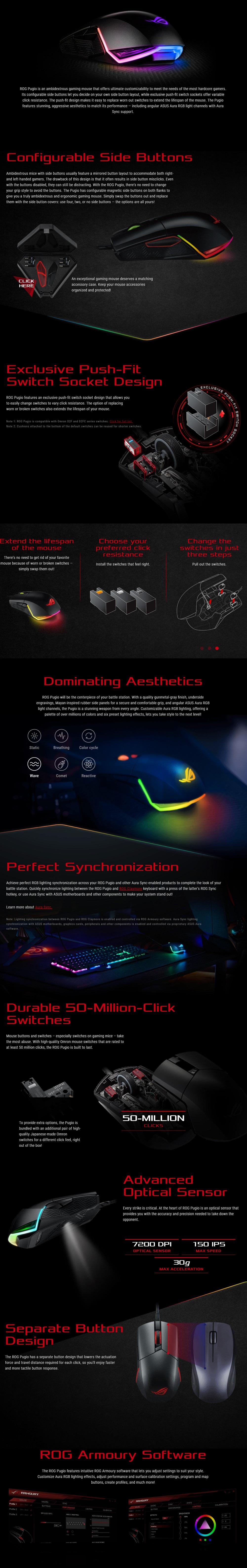Asus ROG Pugio Aura [7 2K] DPI Gaming Mouse