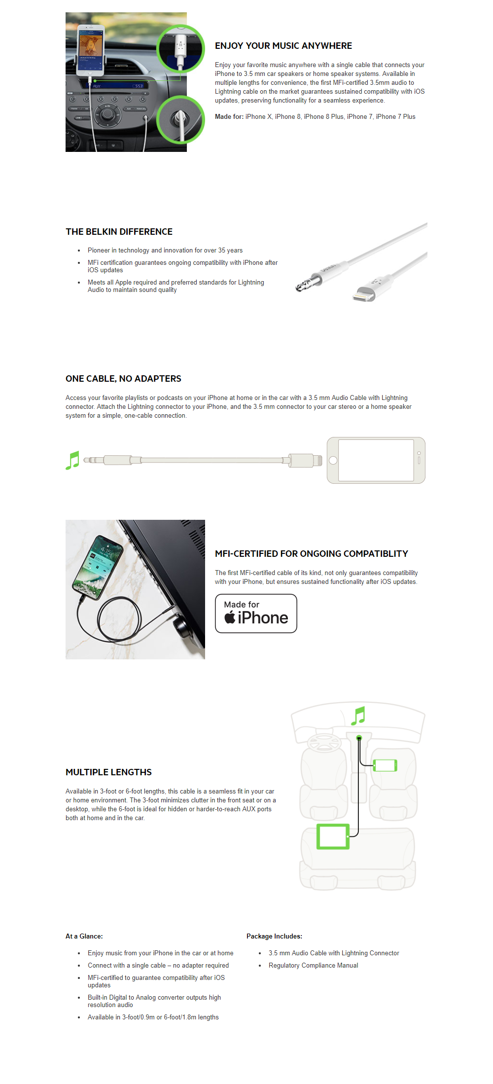Mobile Accessories Cords Adaptors Belkin Lighting To 35mm 3 5mm Audio Cable Wiring Diagram Connects Iphone Directly 35 Mm Outlet