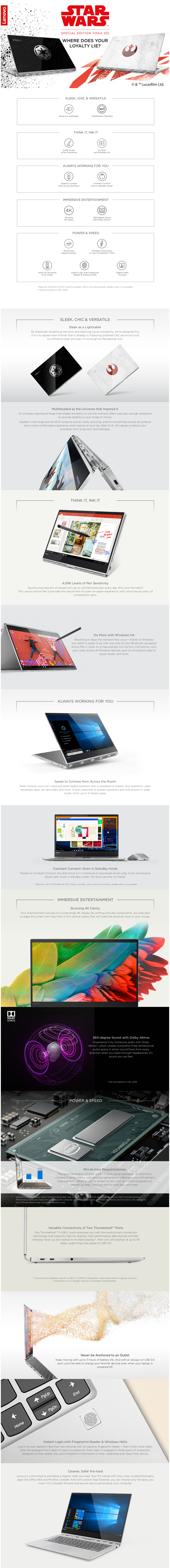 Lenovo Yoga 920-13IKB Star Wars - 80Y8001NSB (Intel i7, 16GB RAM, 512SSD)