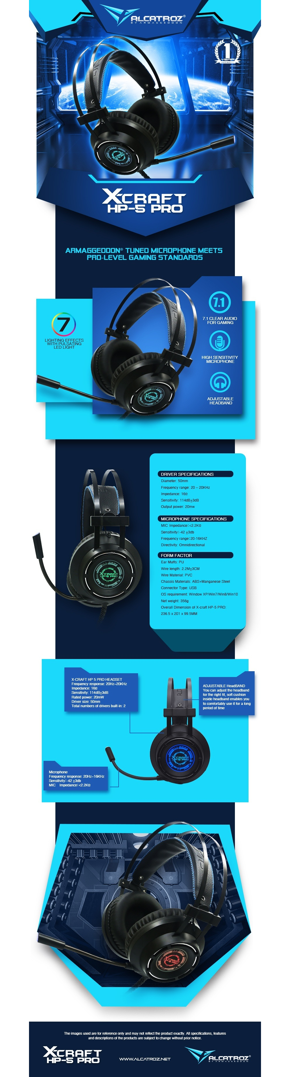Alcatroz X-Craft HP-5 Pro Gaming Headset