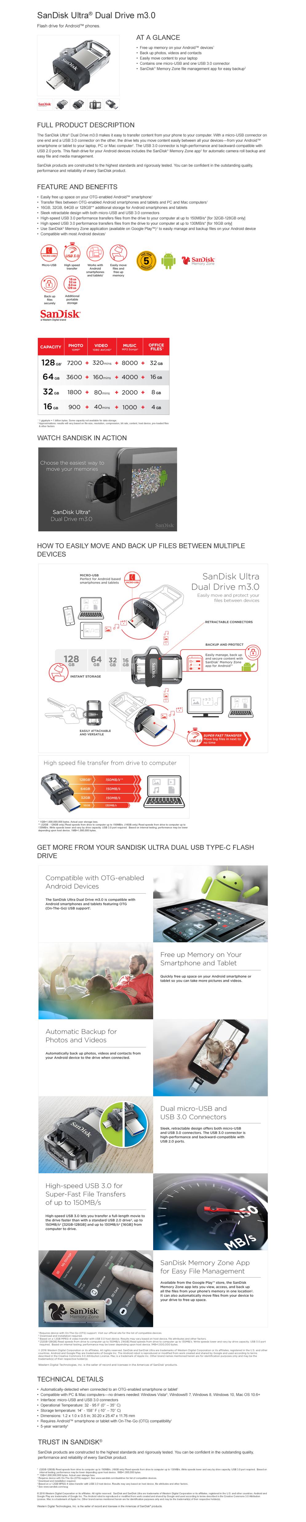 Data Storage Usb Thumb Drives Sandisk Ultra Dual Drive M30 Flash Disk 32gb Flashdisk Otg 32 Gb Overview