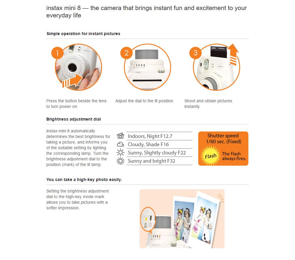 Fuji Instax Mini 8 Minion Instant Camera