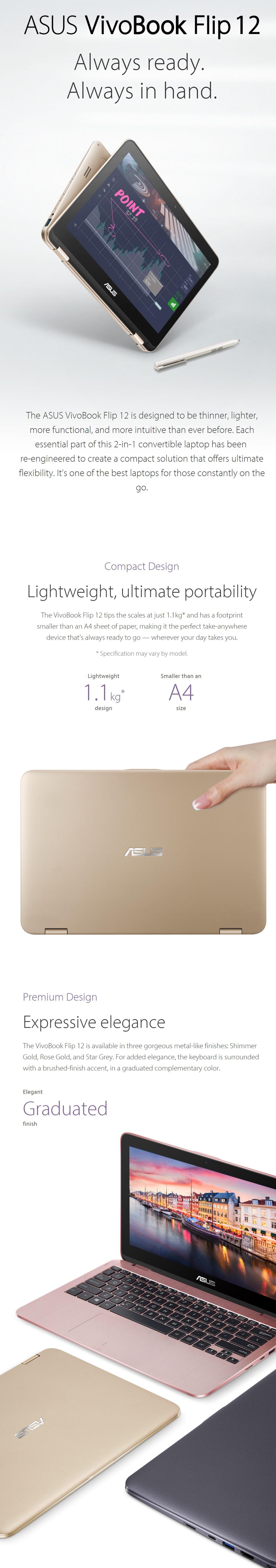 Laptop Asus Vivobook Flip 12 Tp203na Arsip Asus