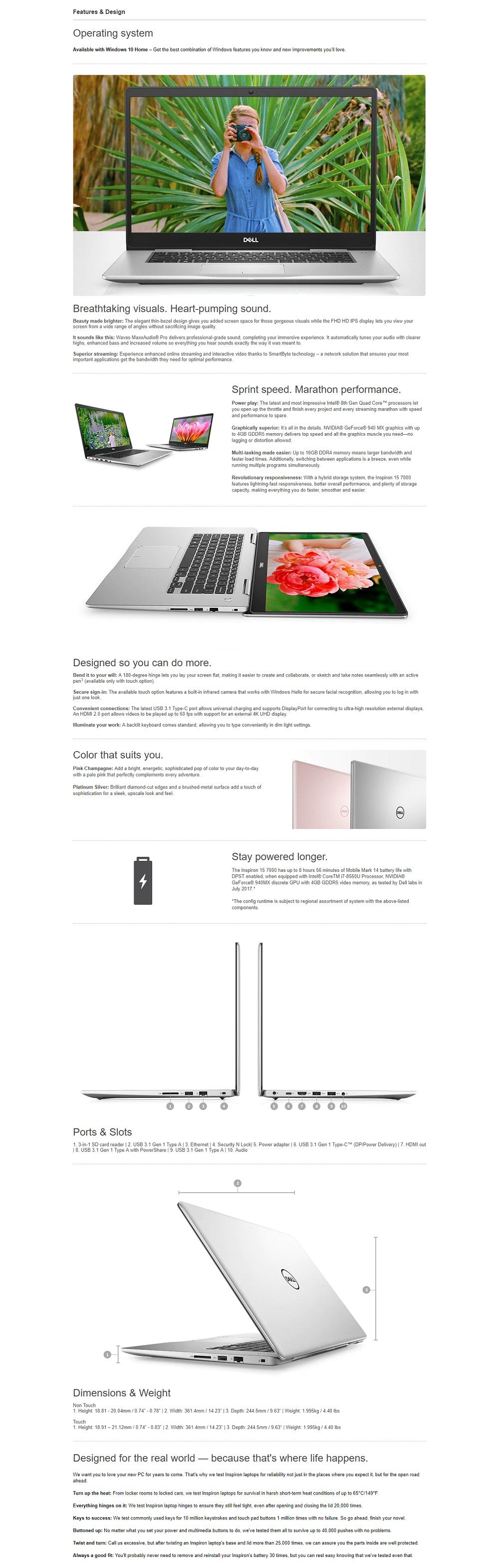 Dell 7570-825814GL i5-8250U 8G 1T+128SSD GT940 (Pink)