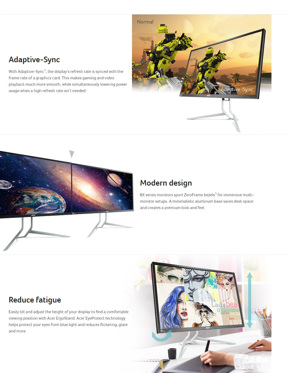 Acer BX340CK Monitor [34 inch] Ultra-wide QHD [Demo Set]