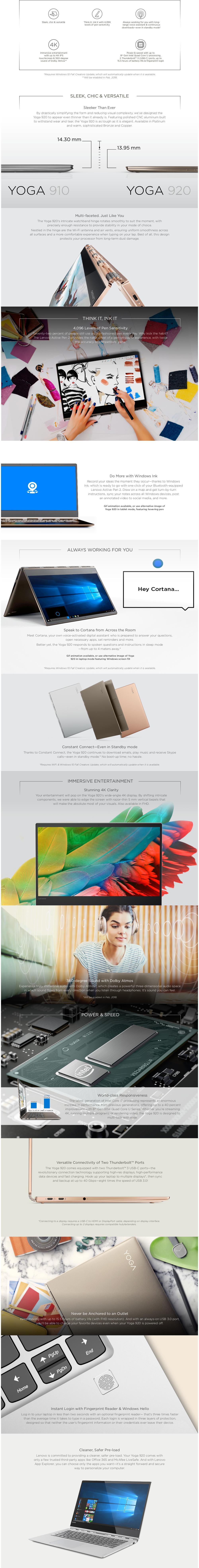 Lenovo YOGA 920-13 80Y700AYSB i7-8550U 16G 512SSD