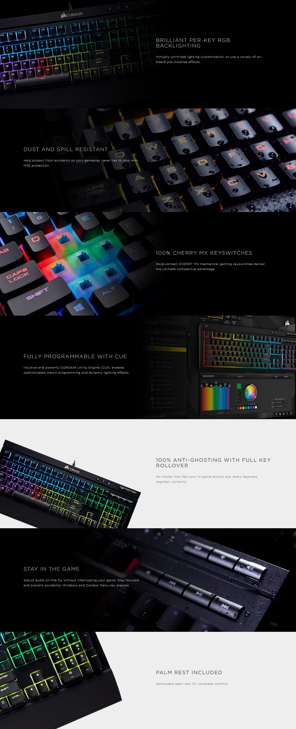 Harga Dan Spesifikasi Corsair K70 Lux Rgb With Cherry Mx Silent Brown Switch Mechanical Keyboard Hitam Gaming Accessories Peripherals Keyboards K68 Switches Vs Red