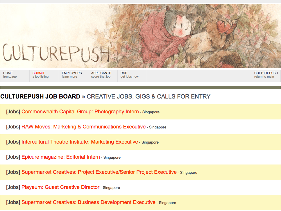 Culturepush Job Board screenshot