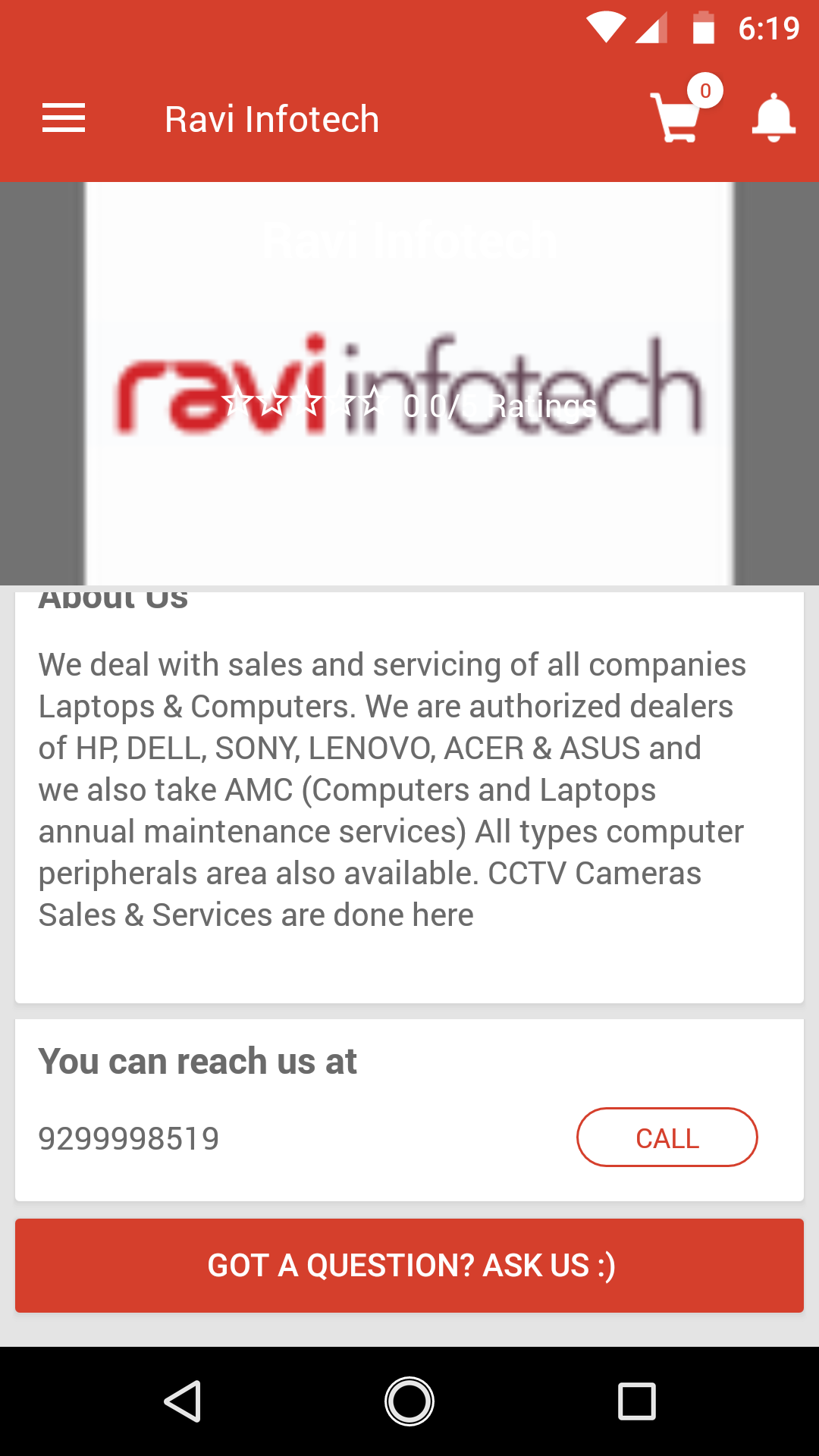 Ravi Infotech | Mobile App | Powered by StoreOnGo