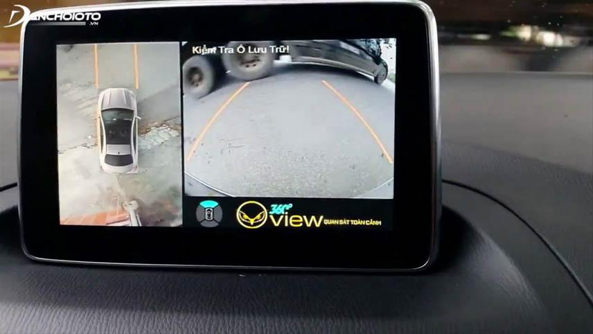 Camera 360 độ cung cấp hình ảnh toàn diện quanh xe