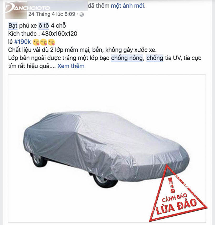 Bạt chống nóng ô tô chất lượng khó có giá quá rẻ