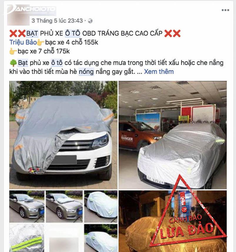 Một trang bán bạt chống nóng ô tô giá rẻ khác