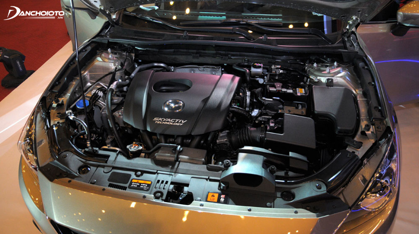 Động cơ SkyActiv có tỉ số nén cao, tiết kiệm nhiên liệu