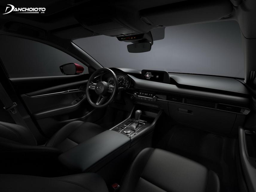 Thiết kế taplo Mazda 3 2019 cho cảm giác dài hơn và sang trọng hơn