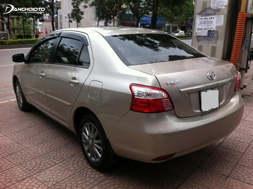Kiểm tra kỹ các chi tiết ngoại thất khi mua Toyota Vios cũ