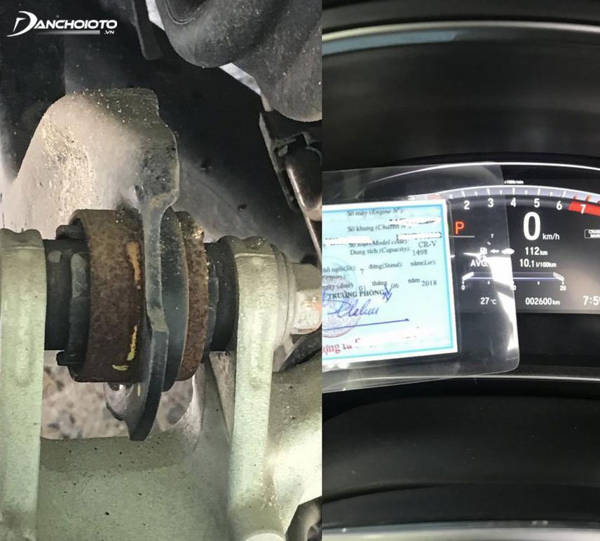 Một chủ xe Honda CR-V phiên bản L đời 2018 phản ánh xe xuất hiện dấu hiệu bị gỉ sét sau thời gian ngắn sử dụng