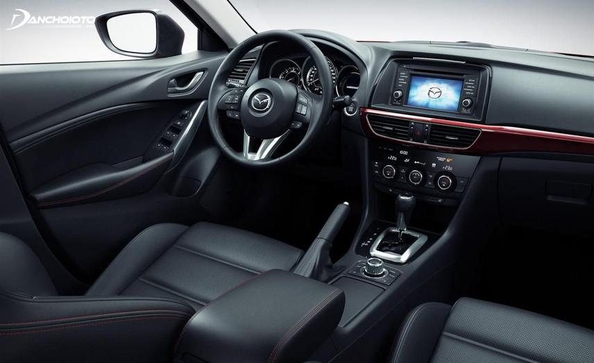 Hệ thống ghế của Mazda 6 được bọc da cao cấp