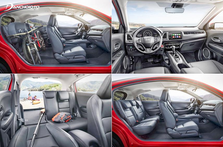 Nội thất Honda HR-V L1.8 CVT 2019 có không gian rộng rãi và mang phong cách thể thao