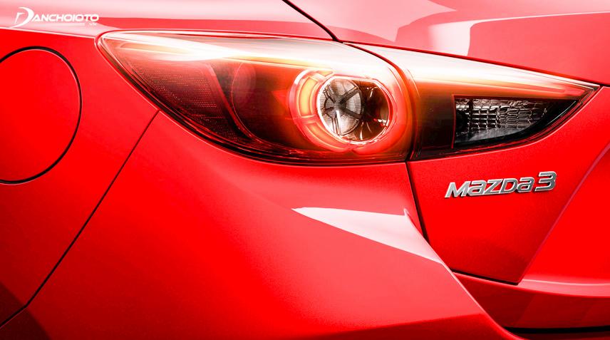 Cụm đèn hậu bắt mắt của Mazda 3