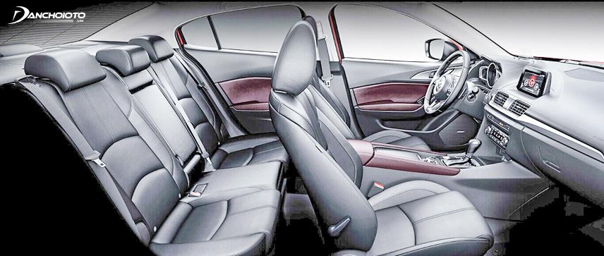 Mazda 3 sở hữu không gian nội thất sang trọng