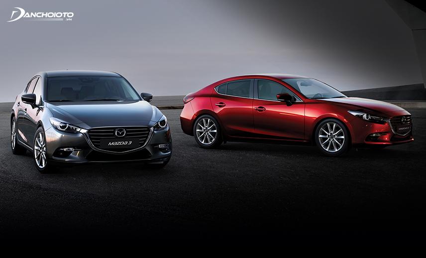 Mazda 3 hatchback và sedan đều được trang bị các tính năng an toàn tương đương