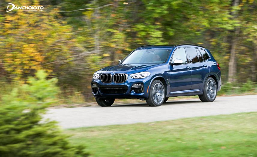 BMW X3 có ngoại hình mang kiểu dáng đồ sộ, mạnh mẽ và cứng cáp
