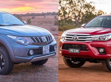 Mitsubishi Triton 2018 và Toyota Hilux 2018 Khi đồng hương đối đầu nhau