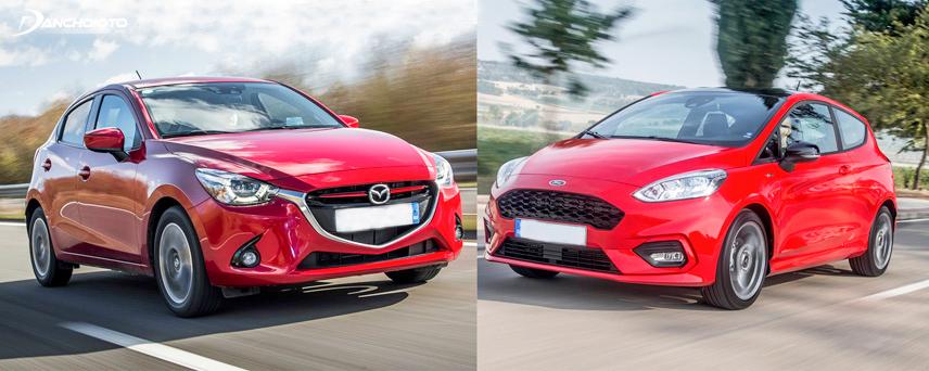 Ford Fiesta 2018 và Mazda 2 2018