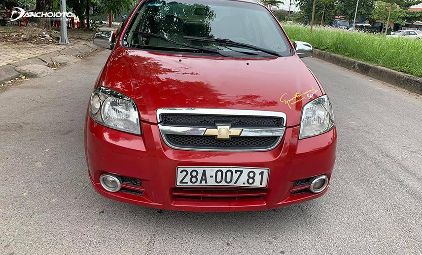 Chevrolet Aveo là mẫu xe Chevrolet 300 triệu cũ đáng mua vì đời xe còn khá mới