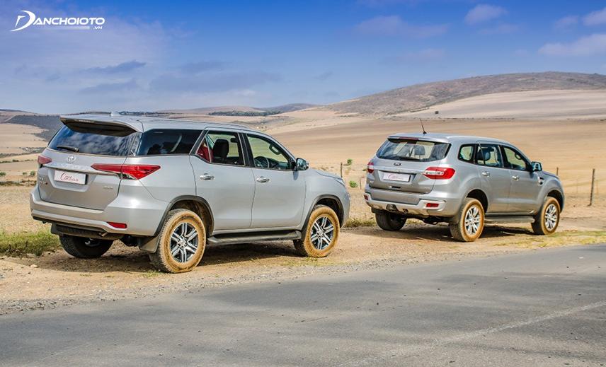Cả Toyota Fortuner và Ford Everest cũ đều là lựa chọn tốt khi mua xe SUV cũ giá 600 triệu