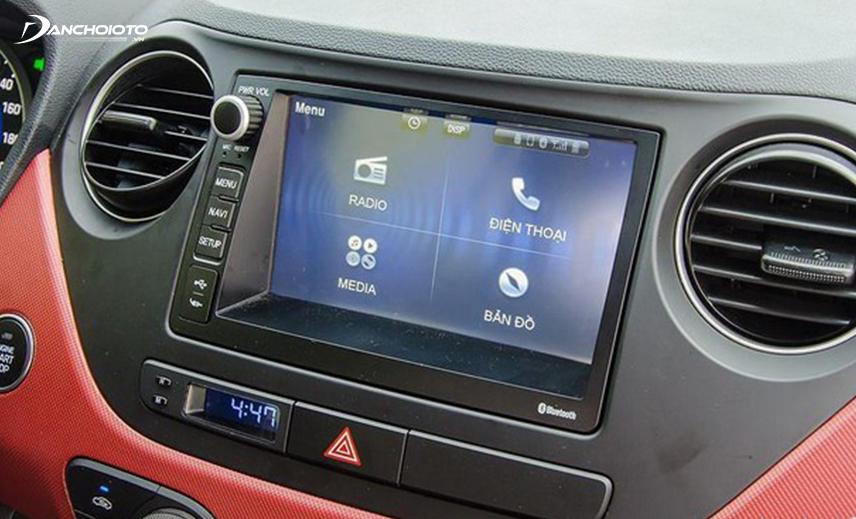Hệ thống giải trí Hyundai i10 2014 - 2019 vừa đủ đáp ứng các nhu cầu cơ bản