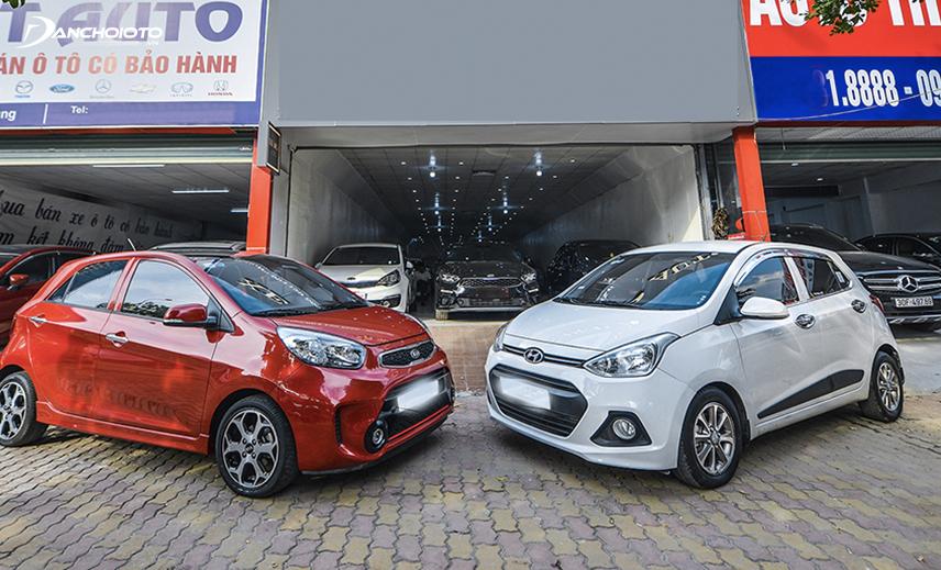 Hyundai Grand i10 và Kia Morning là 2 mẫu đứng đầu phân khúc