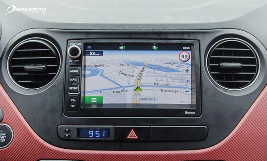 Hyundai i10 2014 - 2019 bản đủ có màn hình cảm ứng 7 inch tích hợp hệ thống định vị