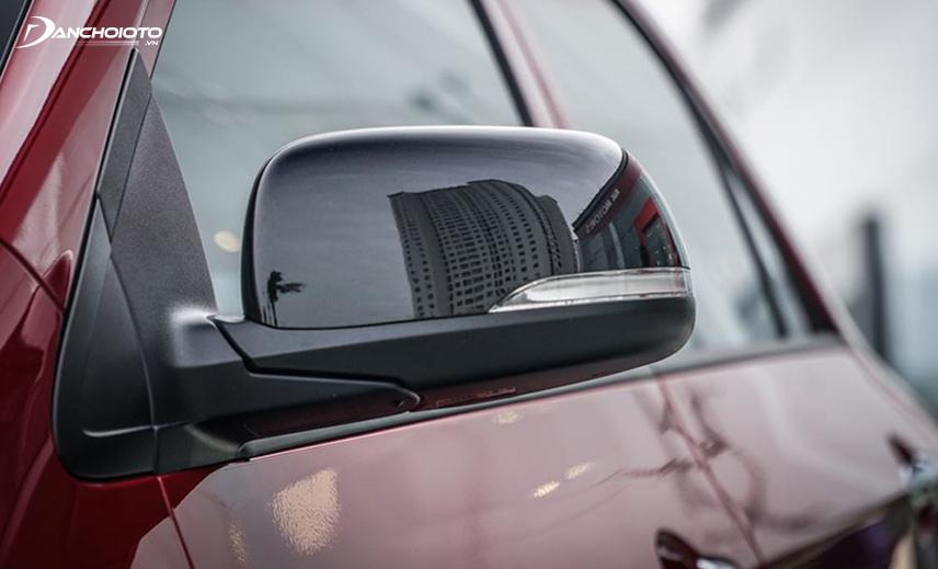 Gương chiếu hậu Kia Morning 2018 - 2019 được sơn đen bóng toàn bộ thay vì cùng màu thân xe như trước