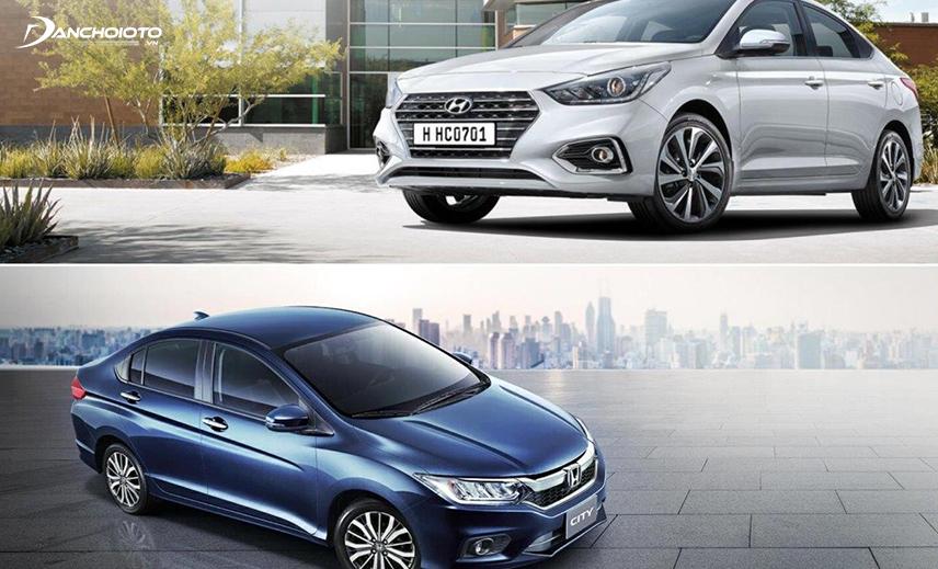 So sánh Honda City và Accent, City có thế mạnh về động cơ còn Accent lợi thế về trang bị và giá bán