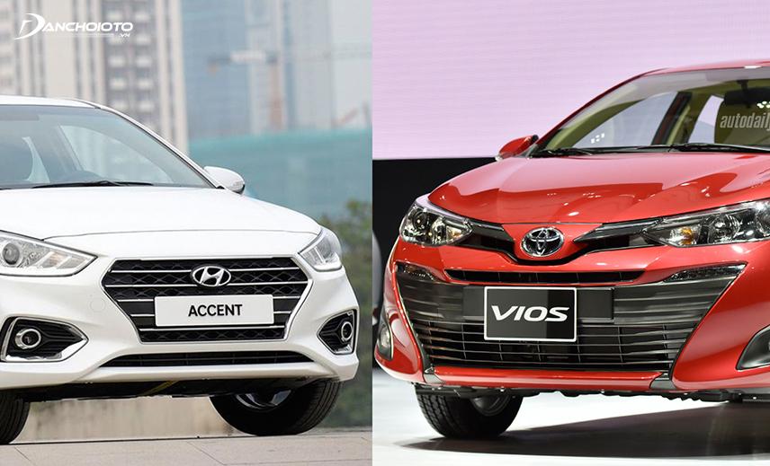 So sánh Toyota Vios và Accent, Vios mạnh về vận hành còn Accent có lợi thế về trang bị