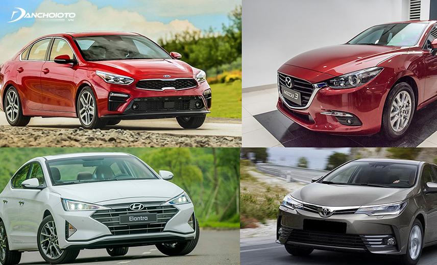 Phân khúc xe sedan hạng C có sự góp mặt của nhiều mẫu xe đến từ các thương hiệu nổi tiếng