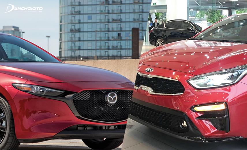 So sánh Mazda 3 và Kia Cerato, giá xe Kia Cerato thấp hơn khá nhiều so với Mazda 3