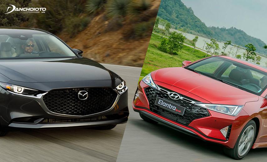 So sánh Mazda 3 và Elantra, Mazda 3 chiếm ưu thế nhờ xe Nhật còn Elantra có giá bán thấp hơn