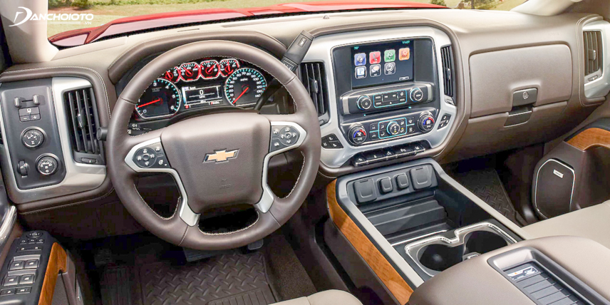 Chevrolet Silverado 2018 có hệ thống giải trí hiện đại