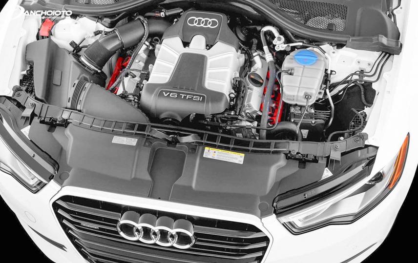 Cận cảnh động cơ của mẫu sedan hạng sang Audi A6 2019