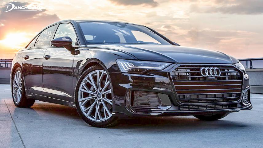 Phần đầu Audi A6 nổi bật với đèn Matrix LED