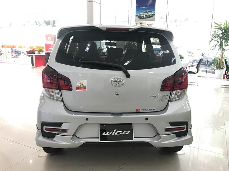 Đuôi xe Toyota Wigo 2020 có nhiều điểm nhấn ấn tượng hơn